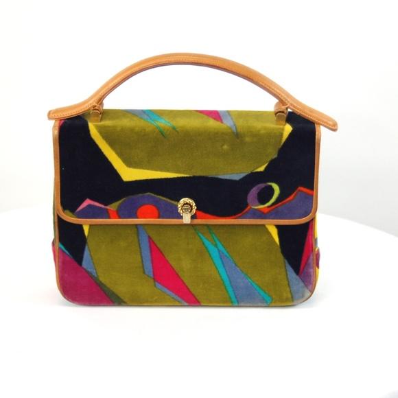 Leather Purse Pucci Emilio Poshmark Bags 1960s Velvet Handbag Cz8xnOUqw